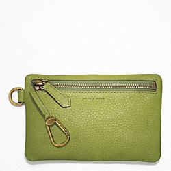 COACH F63747 Bleecker Pebbled Leather Keycase Envelope