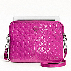 COACH F63808 Embossed Liquid Gloss Tablet Crossbody