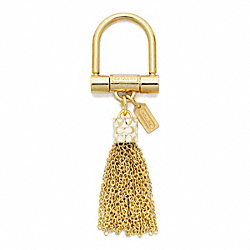 COACH F63838 Tassel Key Ring BRASS/GOLD