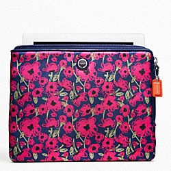 COACH F63859 - POPPY FLORAL PRINT IPAD L ZIP SLEEVE ONE-COLOR