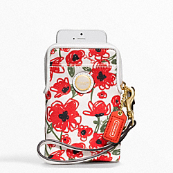 COACH F63861 Poppy Floral Universal Case