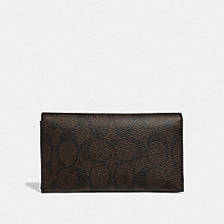 COACH F63972 Universal Phone Case In Signature Canvas MAHOGANY/BLACK/BLACK ANTIQUE NICKEL
