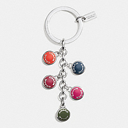 COACH F63982 Coach Buttons Multi Mix Key Ring SVE99
