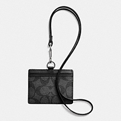 COACH F64063 - ID LANYARD IN SIGNATURE CHARCOAL/BLACK