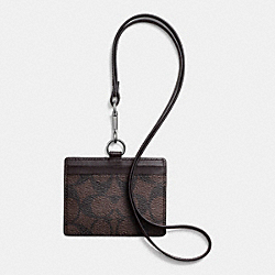 COACH F64063 Id Lanyard In Signature MAHOGANY/BROWN