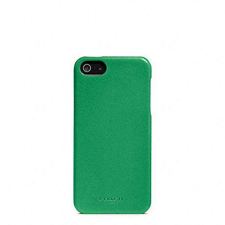 COACH f64076 BLEECKER LEATHER MOLDED IPHONE 5 CASE