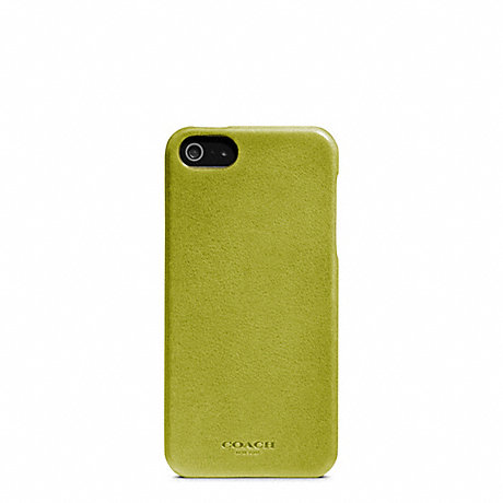 COACH f64076 BLEECKER LEATHER MOLDED IPHONE 5 CASE LIME