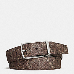COACH F64087 Modern Harness Cut-to-size Reversible Signature Belt D0S