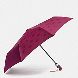 COACH F64133 Star Canyon Umbrella SILVER/CRANBERRY
