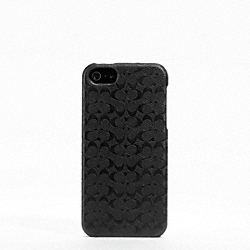 COACH HERITAGE SIGNATURE IPHONE 5 CASE - BLACK - F64218