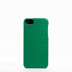 COACH HERITAGE SIGNATURE IPHONE 5 CASE - GREEN - F64218