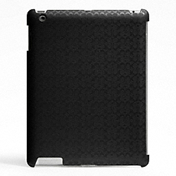 COACH HERITAGE SIGNATURE IPAD CASE - BLACK - F64219