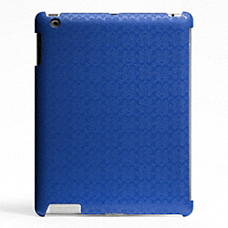 COACH HERITAGE SIGNATURE IPAD CASE - BLUE - F64219
