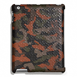 COACH HERITAGE SIGNATURE IPAD CASE - FATIGUE/ORANGE CAMO - F64219
