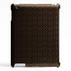 COACH F64219 Heritage Signature Ipad Case MAHOGANY