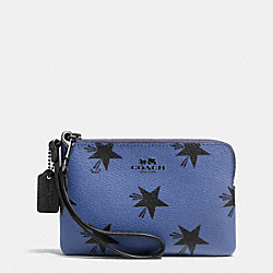 COACH F64239 Corner Zip Wristlet In Star Canyon Print Coated Canvas QBEB6