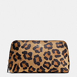 COACH F64242 Cosmetic Case 22 In Ocelot Print Haircalf IMITATION GOLD/NEUTRAL