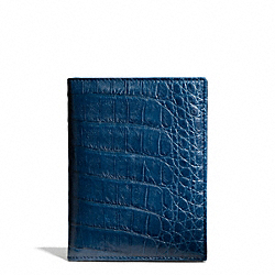 COACH F64499 Crocodile Passport Case