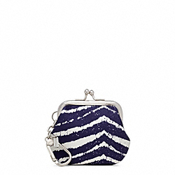 COACH F64520 - ZEBRA POUCH CHARM ONE-COLOR