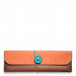 COACH F64544 Bleecker Leather Nubuck Pencil Case