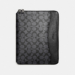 COACH F64562 Tech Case In Signature CHARCOAL/BLACK