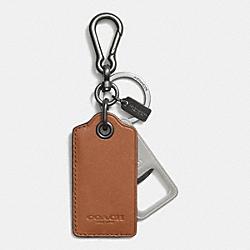 COACH F64577 Bottle Opener Key Ring SADDLE