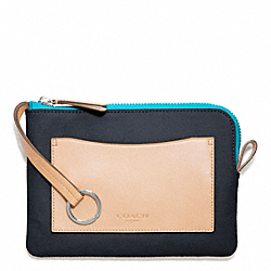COACH F64636 Bleecker Canvas Beach Pouch DENIM