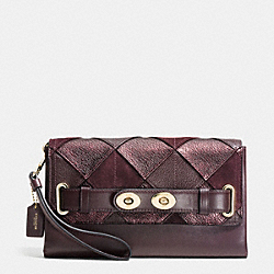 BLAKE CLUTCH IN PATCHWORK LEATHER - f64639 - IMREM