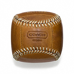 COACH F64678 Bleecker Baseball Paperweight