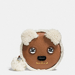 COACH F64710 Bear Coin Purse SILVER/MULTICOLOR
