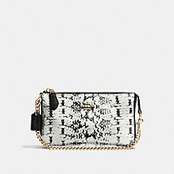 COACH F64712 Nolita Wristlet 19 BLACK/LIGHT GOLD
