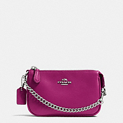 COACH F64791 Nolita Wristlet 15 In Leather SILVER/CYCLAMEN