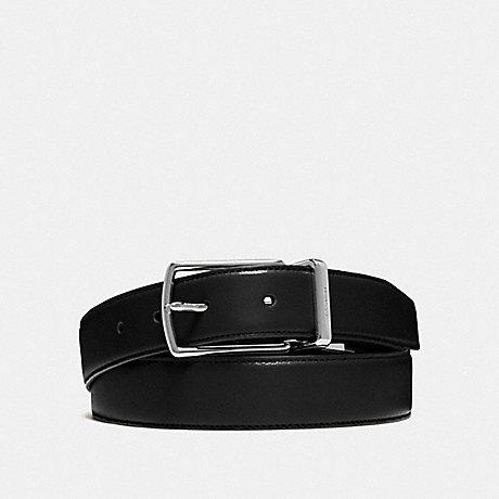 14881a3c1c87 COACH f64824 MODERN HARNESS CUT-TO-SIZE REVERSIBLE SMOOTH LEATHER BELT  BLACK DARK