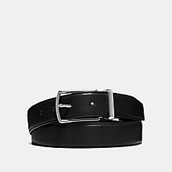 MODERN HARNESS CUT-TO-SIZE REVERSIBLE SMOOTH LEATHER BELT - COACH f64824 - BLACK/DARK BROWN