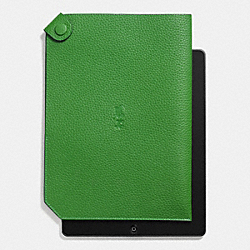 COACH F64893 Ipad Case In Pebble Leather GRASS