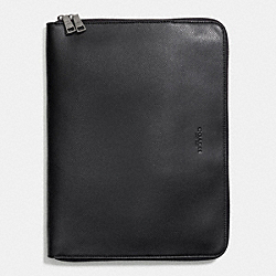 COACH F64915 Tech Portfolio In Crossgrain Leather BLACK
