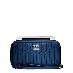 COACH F64998 Madison Gathered Leather Universal Case SILVER/RHODIUM