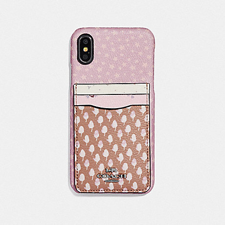 COACH IPHONE X/XS CASE WITH ACORN PATCHWORK PRINT - PINK MULTI - F65020