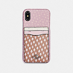 COACH F65020 Iphone X/xs Case With Acorn Patchwork Print PINK MULTI