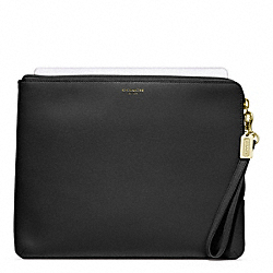 COACH SAFFIANO LEATHER L-ZIP IPAD SLEEVE - ONE COLOR - F65076