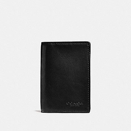 COACH F65104 BIFOLD CARD CASE BLACK