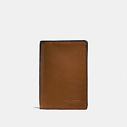 COACH F65104 - BIFOLD CARD CASE DARK SADDLE