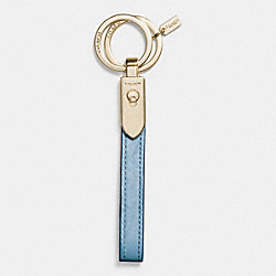 COACH F65161 - EXOTIC VALET LOOP KEY RING GOLD/BLUEJAY