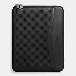 COACH F65200 Tech Case In Perforated Leather BLACK