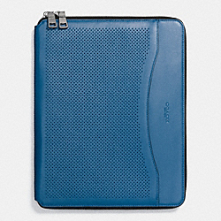 COACH F65200 Tech Case In Perforated Leather DENIM