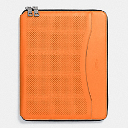 COACH TECH CASE IN PERFORATED LEATHER - ORANGE - F65200