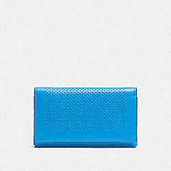 COACH F65204 Universal Phone Case In Perforated Leather AZURE