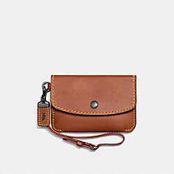 COACH F65268 Envelope Key Pouch 1941 SADDLE/BLACK COPPER