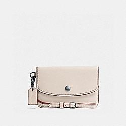 COACH F65268 Envelope Key Pouch DK/CHALK