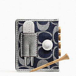 COACH F65341 Signature Denim Golf Tee Set